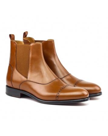 home dressed boots chelsea boot cognac box calf. Black Bedroom Furniture Sets. Home Design Ideas